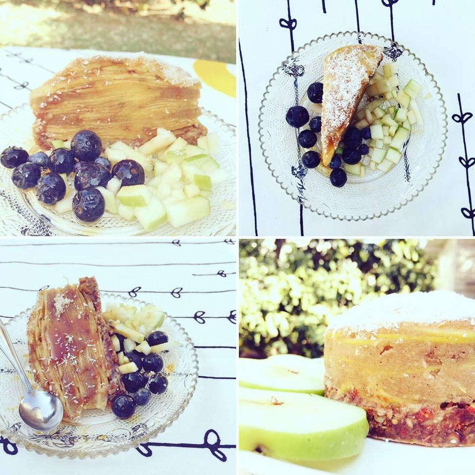 עוגת פאי עם פירות אורגניים