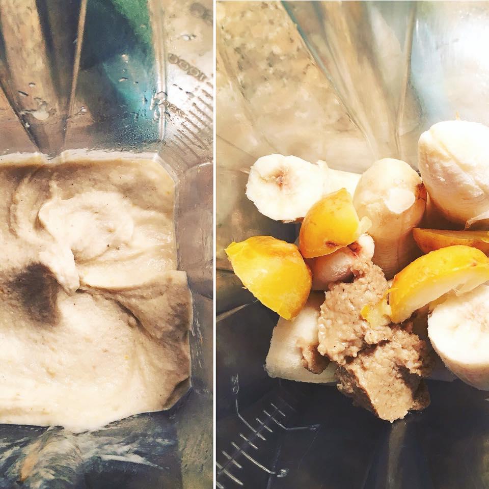 בננות וטחינא בשייק אורגני