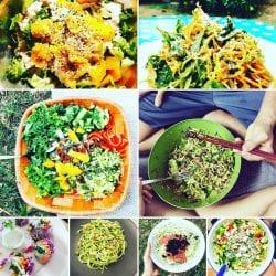 סלט ירקות ופירות