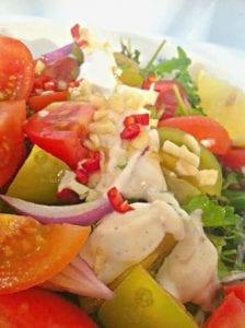 סלט עגבנייה - ירקות אורגניים