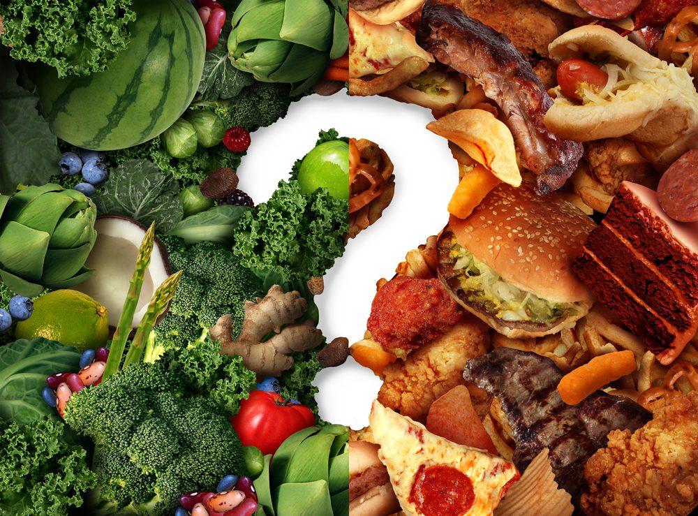 מזון בריא ומזון אולטרה-מעובד