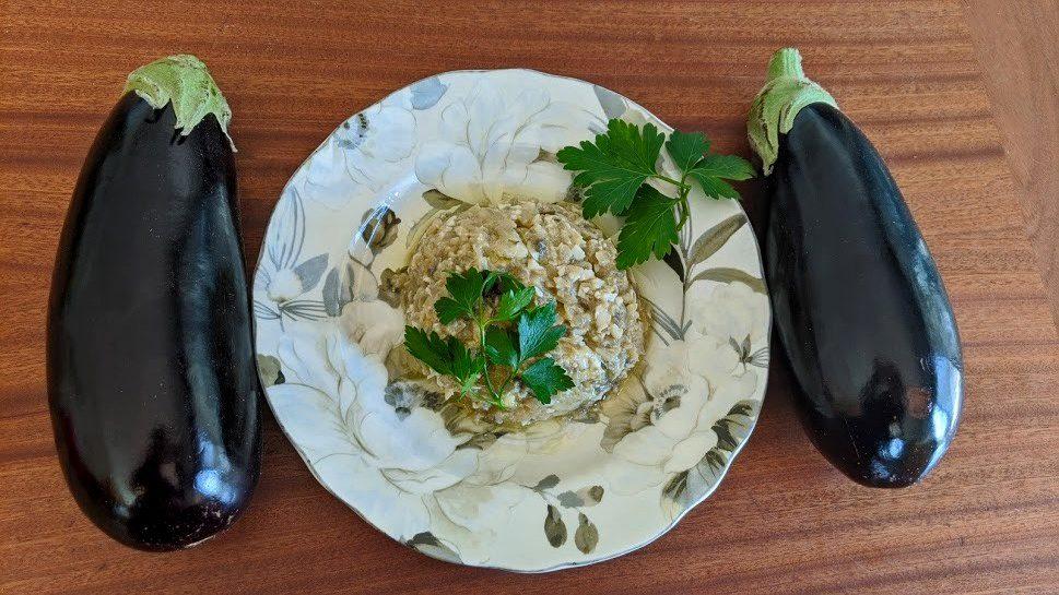 סלט חצילים בטעם כבד