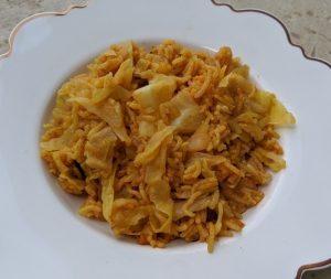 אורז עם כרוב גזר ועגבניות