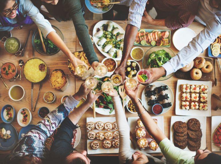 ארוחה בריאה משותפת
