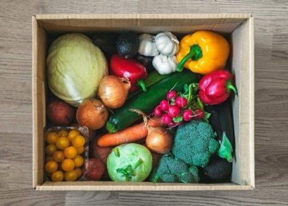 ירקות אורגניים ארוזים